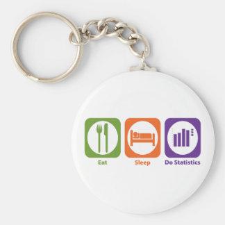 Eat Sleep Do Statistics Key Ring
