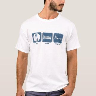 eat sleep dogsled T-Shirt