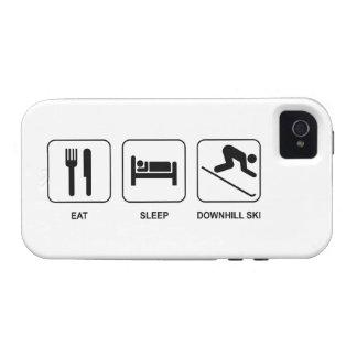Eat Sleep Downhill Ski iPhone 4 Covers