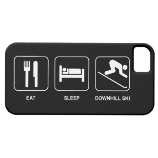 Eat Sleep Downhill Ski iPhone 5 Cases