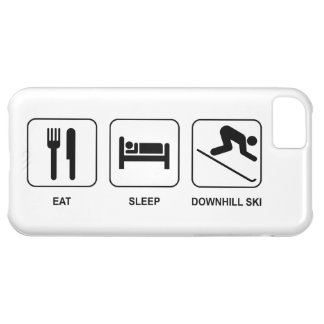 Eat Sleep Downhill Ski iPhone 5C Cases