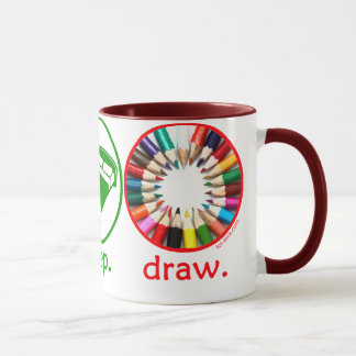 Eat Sleep Draw Mug