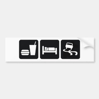Eat Sleep Drift Bumper Sticker
