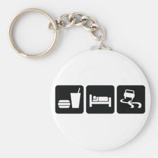 Eat Sleep Drift Key Ring