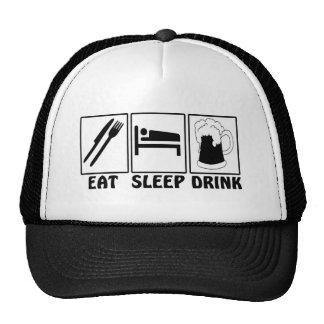 Eat, Sleep, Drink - Funny Cap