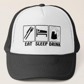 Eat, Sleep, Drink - Funny Trucker Hat