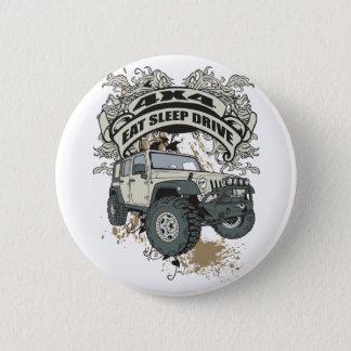 Eat, Sleep, Drive 4x4 6 Cm Round Badge