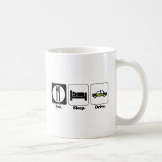 eat sleep drive taxi basic white mug