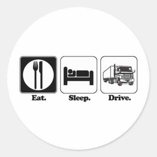 eat sleep drive truck sticker