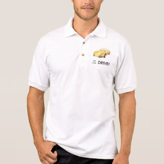 Eat sleep drive TVR Sagaris shirt, orange yellow Polo Shirt