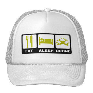 EAT SLEEP DRONE White Cap