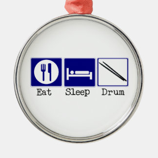 Eat, Sleep, Drum Christmas Ornament