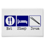 Eat, Sleep, Drum Poster