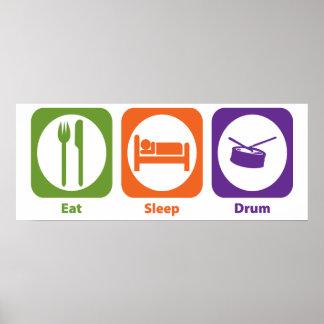Eat Sleep Drum Poster