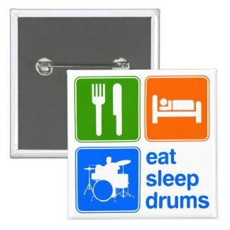 Eat Sleep Drums 15 Cm Square Badge