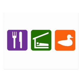 Eat Sleep Ducks Post Card