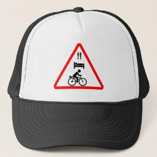 """Eat. Sleep. eBike"" custom cycling hats"