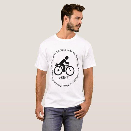 """Eat sleep eBike"" custom t-shirts for men"