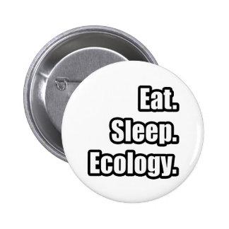 Eat. Sleep. Ecology. 6 Cm Round Badge