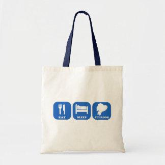 Eat Sleep Ecuador Canvas Bags