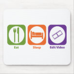 Eat Sleep Edit Video Mouse Mat