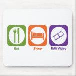 Eat Sleep Edit Video Mouse Pad
