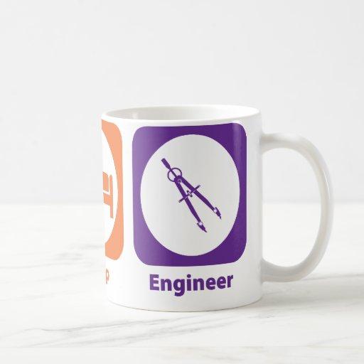 Eat Sleep Engineer Coffee Mugs