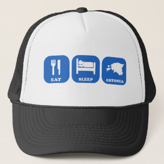 Eat Sleep Estonia Trucker Hat