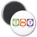 Eat Sleep Exercise Refrigerator Magnets