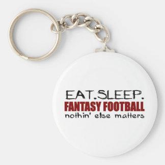 Eat Sleep Fantasy Football Basic Round Button Key Ring
