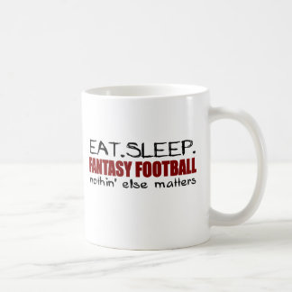 Eat Sleep Fantasy Football Coffee Mug
