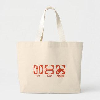 Eat Sleep Farm Large Tote Bag