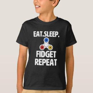 Eat Sleep Fidget Repeat funny Fidget Spinner Shirt