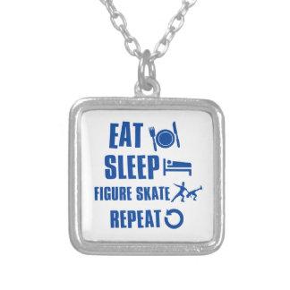 Eat sleep figure skate necklaces