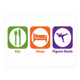 Eat Sleep Figure Skate Postcards