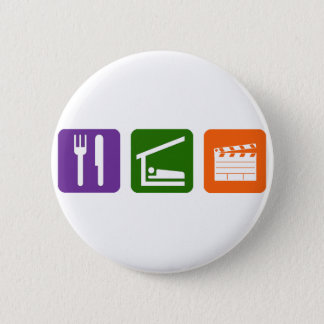 Eat Sleep Film Production 6 Cm Round Badge