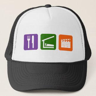 Eat Sleep Film Production Trucker Hat