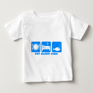 eat sleep fish baby T-Shirt