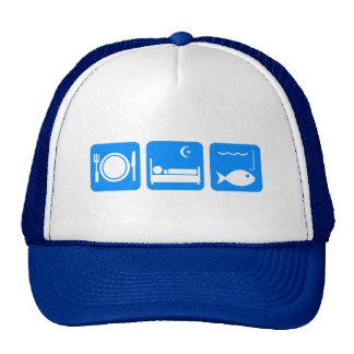 Eat Sleep Fish blue Cap