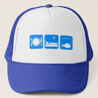 Eat Sleep Fish blue Trucker Hat