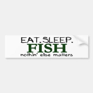 Eat Sleep Fish Bumper Sticker