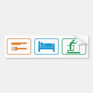 eat sleep - fish bumper sticker