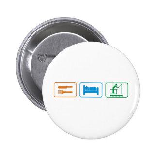 eat sleep - fish buttons