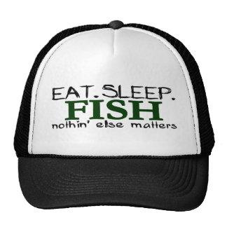 Eat Sleep Fish Cap