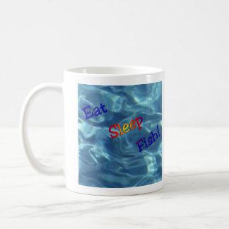 Eat Sleep Fish Coffee Mug