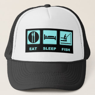 Eat Sleep Fish fishing gifts Trucker Hat