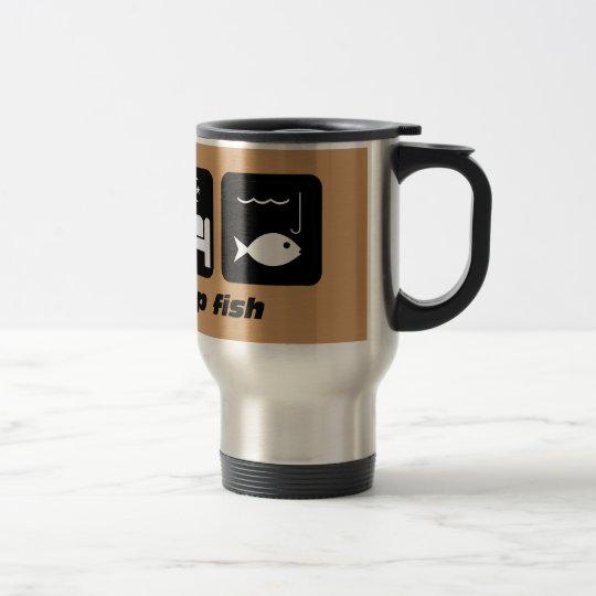 eat sleep fish fishing travel mug