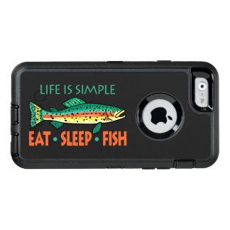 Eat Sleep Fish - Funny Saying OtterBox iPhone 6/6s Case