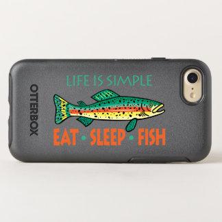 Eat Sleep Fish - Funny Saying OtterBox Symmetry iPhone 7 Case