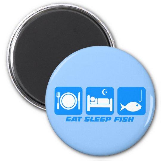 eat sleep fish magnet